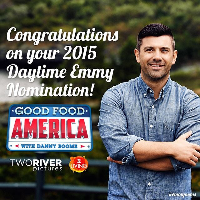 Danny Boome - Daytime Emmy Nomination for Outstanding Culinary Host - Two River Pictures